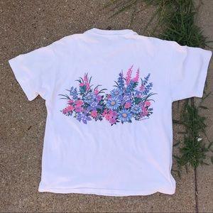 Vintage Tops - Vintage Alaska Flowers T-shirt 1992 Lifestyles